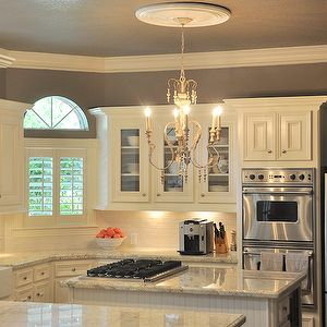 1000 images about my dream home on pinterest islands for Kitchen colors with white cabinets with metal chandelier wall art