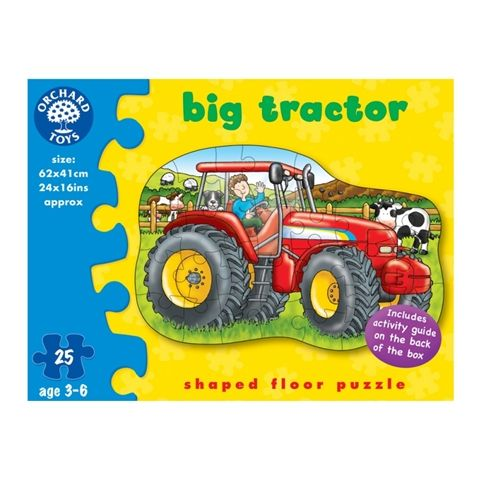 Big Tractor 25 Piece floor puzzle by Orchard Toys - Available at Kids Mega Mart Online Shop Australia