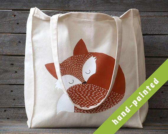 fox nursery / woodland nursery/ nursery tote bag/ fox purse/