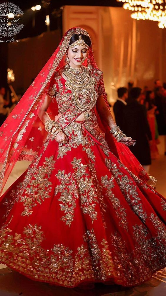 d09746136aa Pakistani Bridal Dresses for Barat Day In Red Color