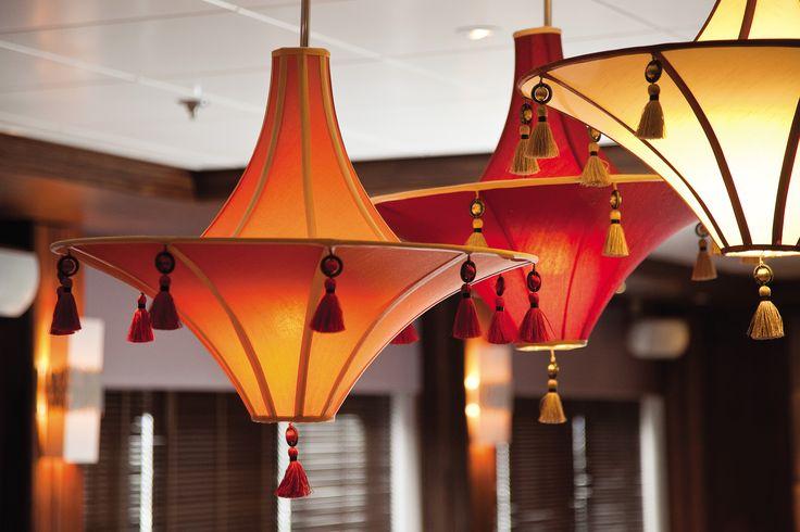 Saga Sapphire - Restaurant  Bespoke lantern pendants