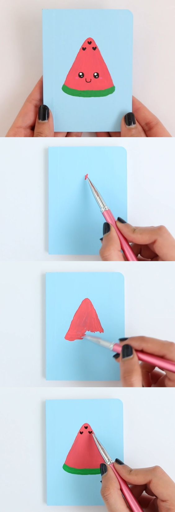 Watermelon-Notebook | DIY Back to School Art Projects | DIY School Supplies for Teens Notebooks