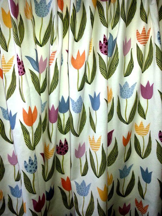 jaren 1960 paar vintage gordijnen bedrukte door Pennypowerfabric