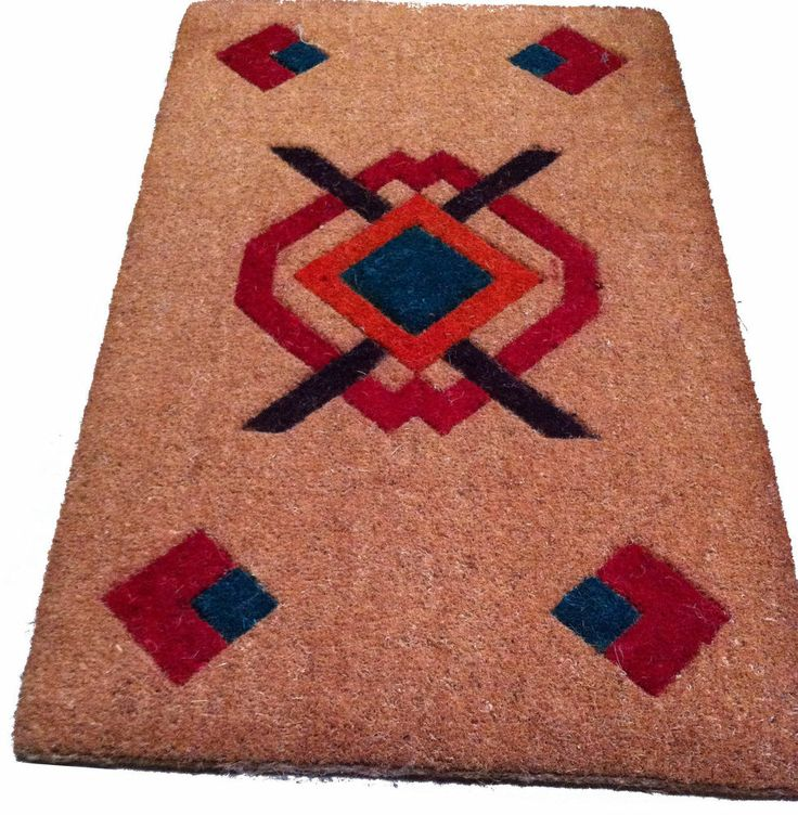 Top Quality Inlaid Logo Extra Large XL Coir Mat Doormat 90cm X 55cm