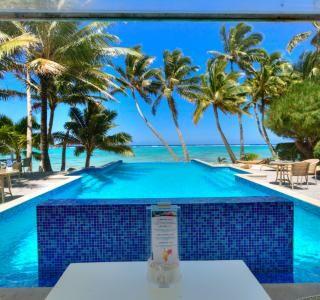 Pool på Little Polynesian Resort, Cook Islands