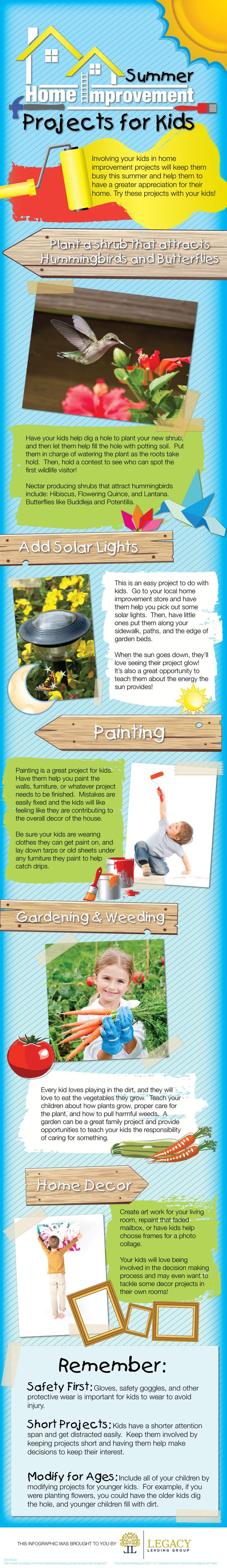 Summer Home Improvement Projects for the Kids by Legacy Lending Group