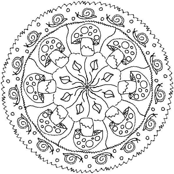 * Mandala: Paddenstoelen....slakken...