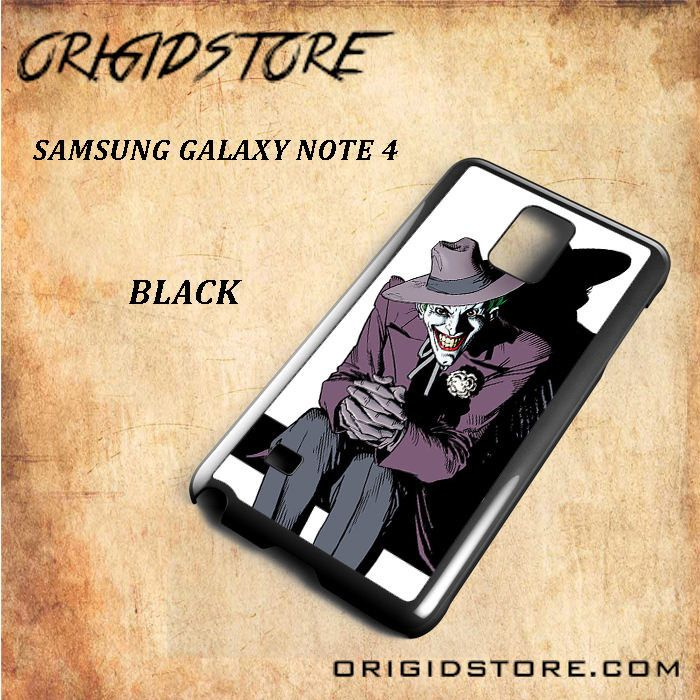 Smiling Joker DC Comic For Samsung Galaxy Note 4 Snap On and 3D Case