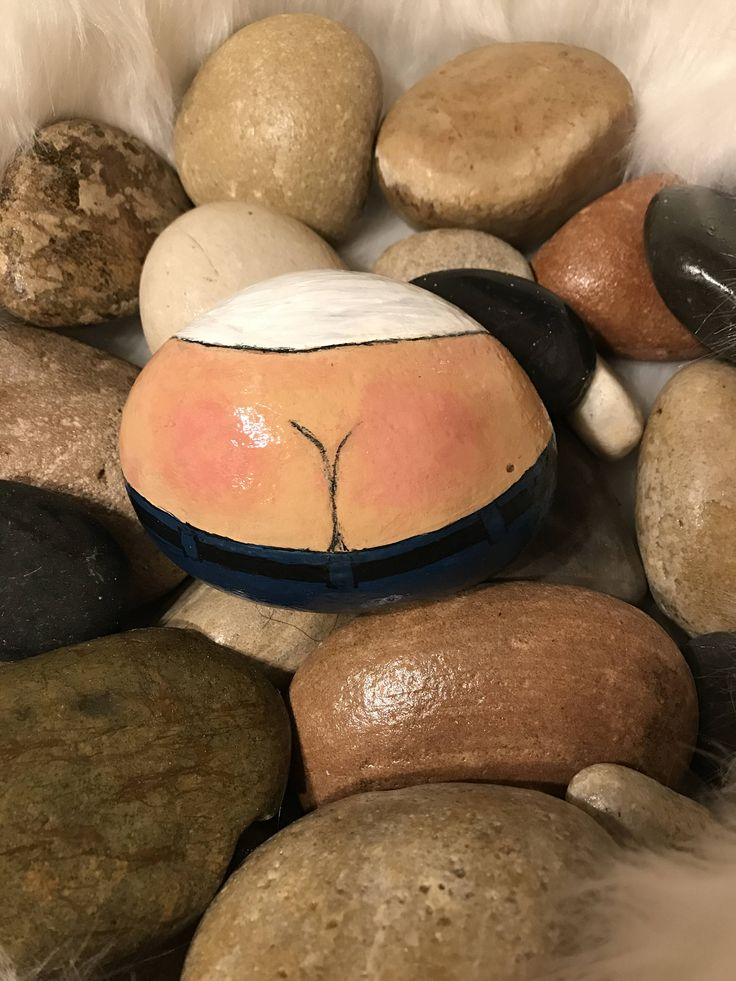 Plumbers behind painted rock by PinkaboutitGifts on Etsy https://www.etsy.com/listing/516177680/plumbers-behind-painted-rock