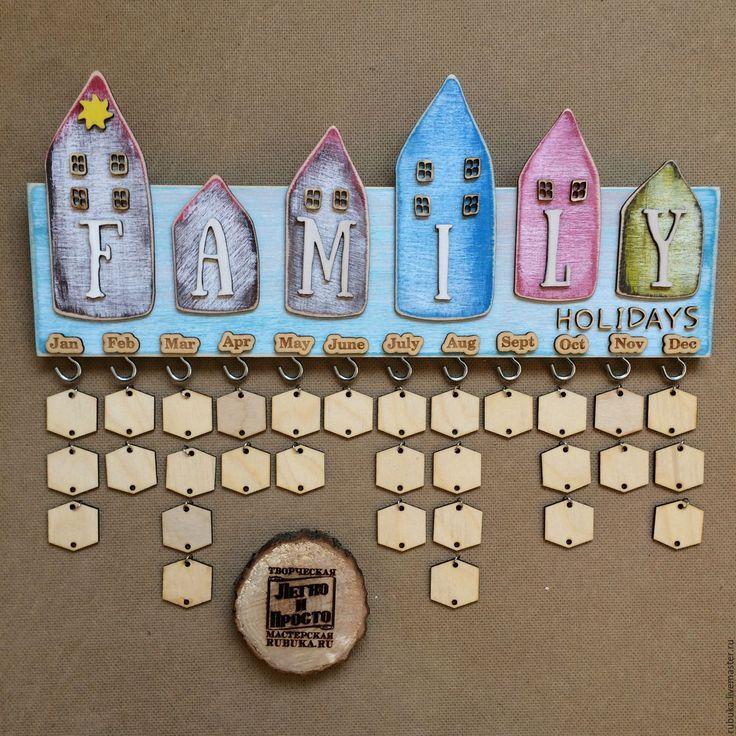 Купить Семейный календарь. - комбинированный, календарь дней рождений, семейный календарь, календарь