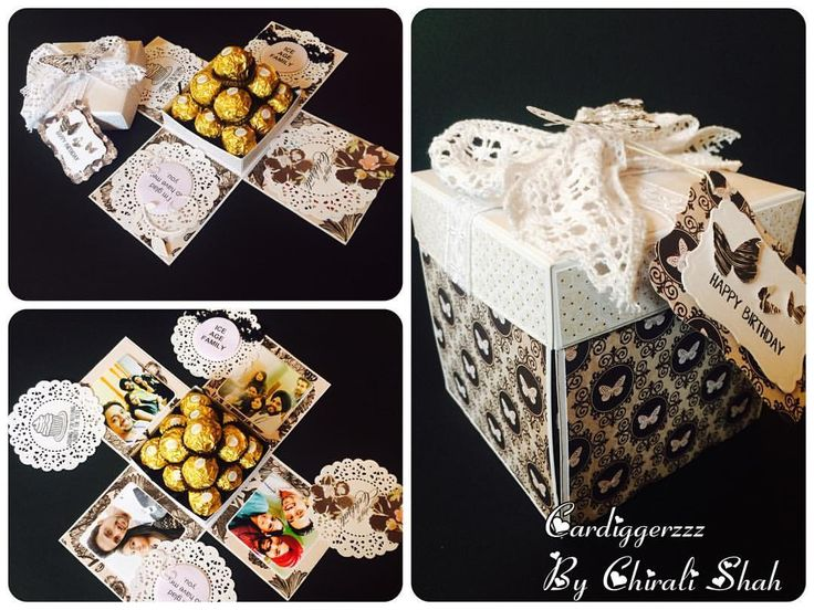 """An explosion box to gift bunch of chocolates which are complemented by photos and messages…"""