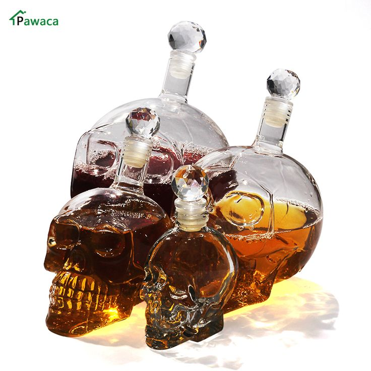 350/550ml/1000ml Crystal Head Vodka Bottle Skull Head Bottles Creative Gothic Wine Glass Cup Decanter Wine Glass Bottle with Tap