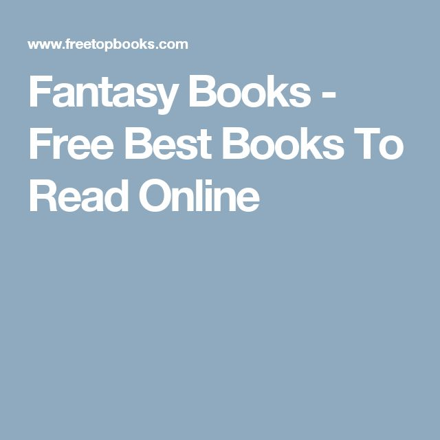 Fantasy Books - Free Best Books To Read Online