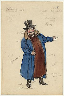 Alexandre BENOIS | Costume design for a merchant #art #knowledge #russia