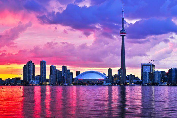 Toronto in sunset...