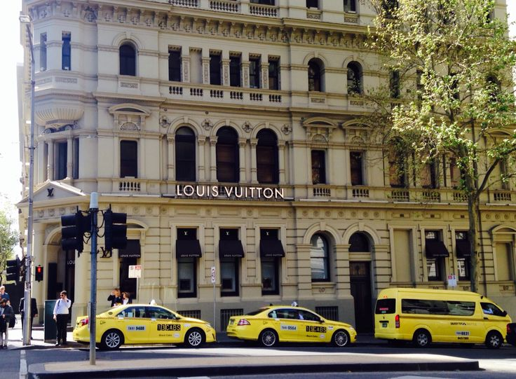 My favorite #Louise #Vuitton #shopping #Melbourne #yellow #cab