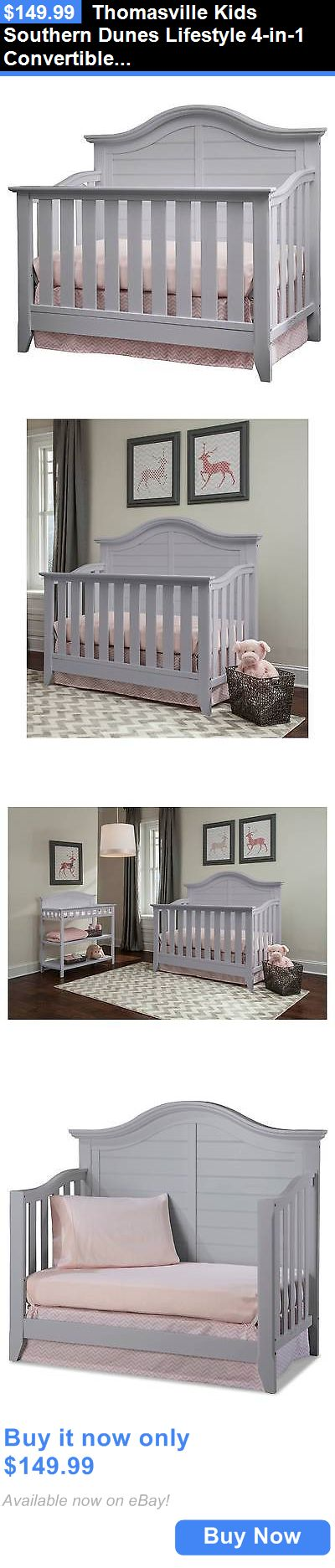 Baby Nursery: Thomasville Kids Southern Dunes Lifestyle 4-In-1 Convertible Crib - Pebble Gray BUY IT NOW ONLY: $149.99