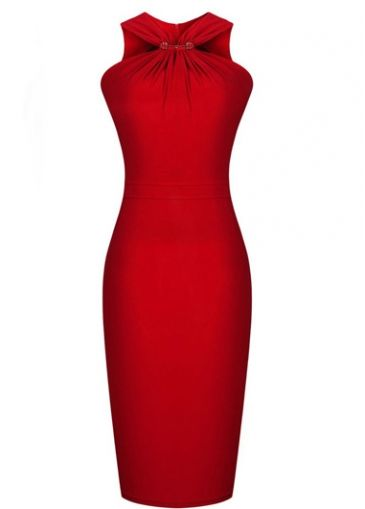 Enchanting off the Shoulder Red Knee Length Dress Wonder if I could wear that. Think I'd have to diet a bit more first!