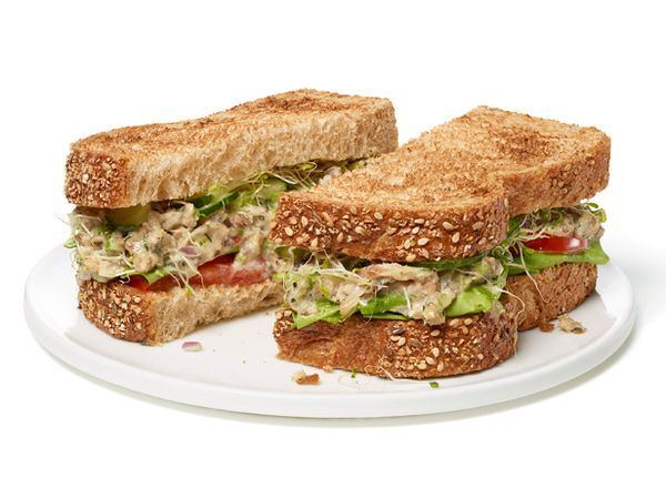 Sardine Salad Sandwiches are a nice change of pace from Tuna Salad. Served with tomatoes, cucumbers and alfalfa sprouts, it's absolutely delicious.