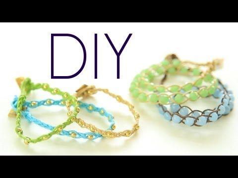 LOVE IT!! DIY Bohemian Style Wrap Bracelets :: SUPER EASY