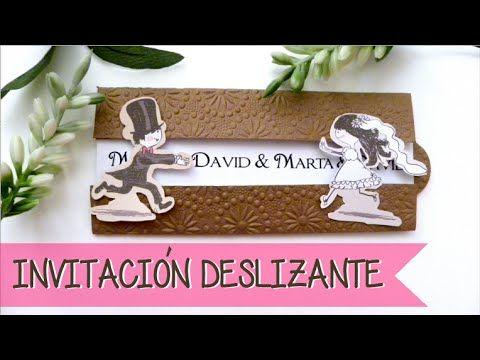 ▶ INVITACIÓN DE BODA DESLIZANTE - SLIDE WEDDING INVITATION - YouTube