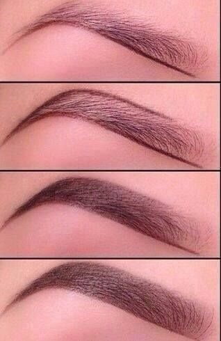Great tips on how to shape eyebrows with pencil. Get this look with Besame Cake in brown or black, smudge proof and activates with water, start light then darken when happy with shape of eyebrows.