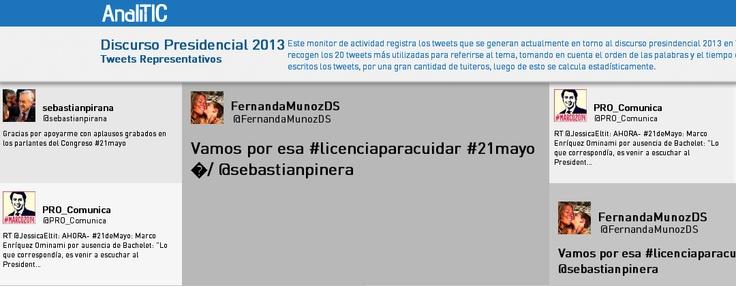 Los tweets representativos sobre la cuenta publica #21demayo, nueva funcionalidad de Analitic