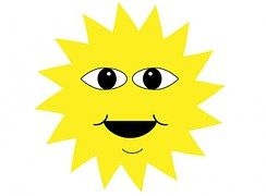 Sun, Face, Happy, Smile, Smiling