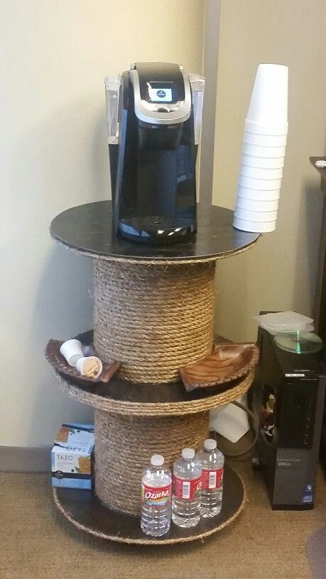 Made this out of 2 old electric spools. 3/2016