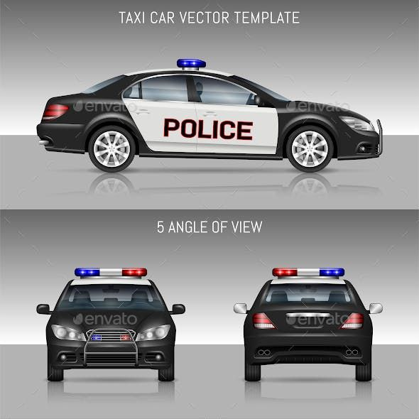 Police Car Car Car Graphics Design Template