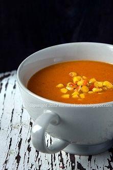 Zobacz zdjęcie Zupa z pieczonej papryki z pikantną kukurydzą