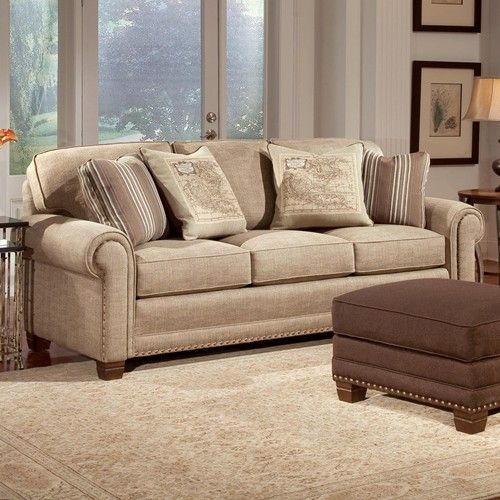 393 Traditional Stationary Sofa with Nailhead Trim by Smith