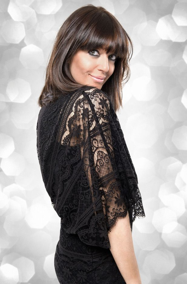 Claudia Winkleman....wearing an awesome dress.
