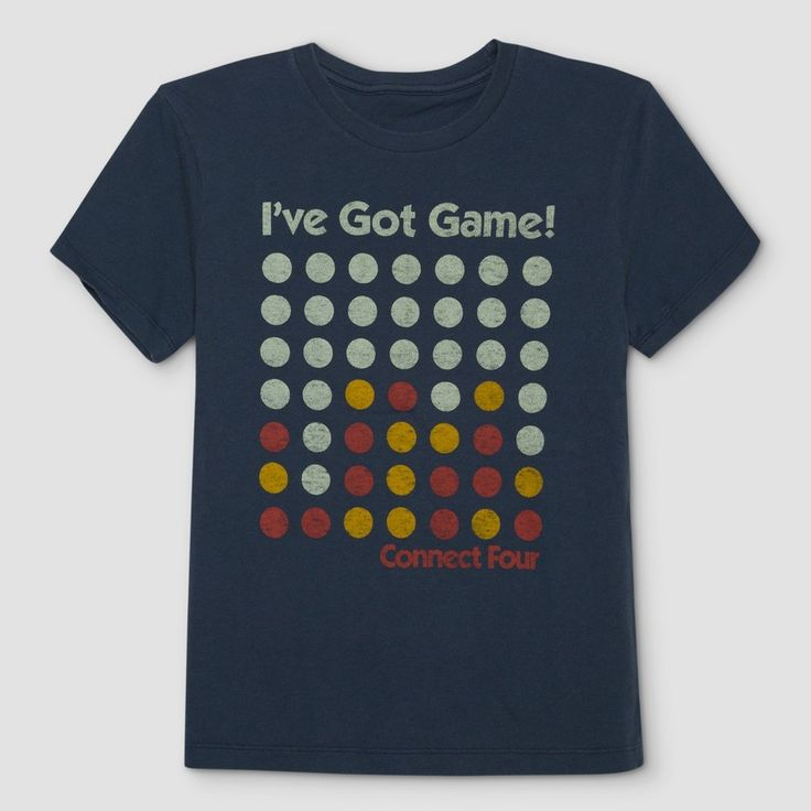 Junk Food Boys' Connect Four Graphic T-Shirt - Blue M