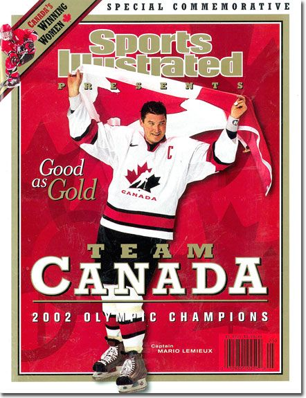 March 06, 2002 - On the Cover: Mario Lemieux, Hockey, Team Canada - Photographed by: John Biever / SI