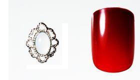FF Nail Art Kit Κόσμημα A, Νο 12 (2 Τεμ.) Κοσμήματα Nail Art για μοναδικά nail design. Είναι κατάλληλα για τεχνητά νύχια (ακρυλικό και gel) καθώς και για σχέδια σε μόνιμο βερνίκι. Το νύχι της φωτογραφίας είναι ενδεικτικό για να κατανοήσετε το μέγεθος του κοσμήματος και αντιστοιχεί σε ένα μεσαίο γυναικείο νύχι (δείκτης ή παράμεσος) μικρού μήκους. Αναλογία σε tip: 6-7 νούμερο. Τιμή €3.00