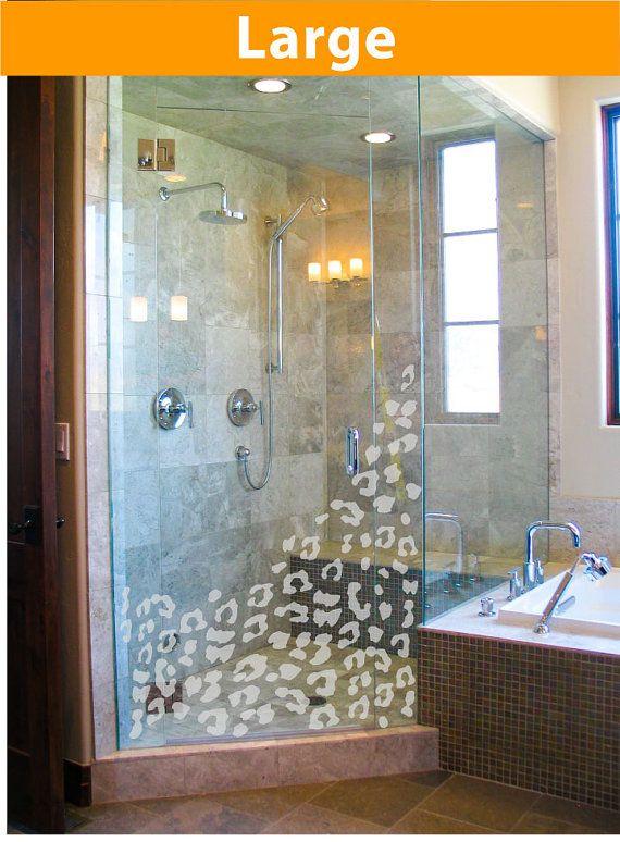 Leopard spot bathroom shower pattern in a by Vinlyisyourfriend, $44.99