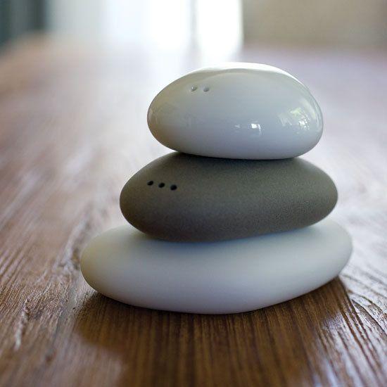 Very Zen Salt and Pepper Shakers