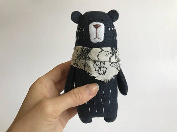 Woodland Animals Felt Animals Felt bear PDF Pattern Instant Download Stuffed Animal Pattern Bear Sewing PATTERN stuffed felt Bear