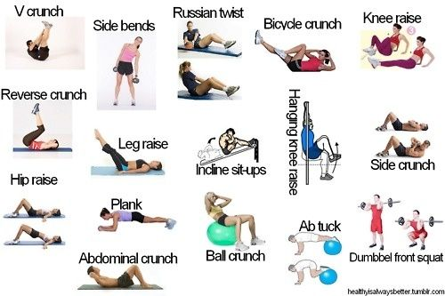 Some of the best exercises to get a flat stomach! by meranduhdee
