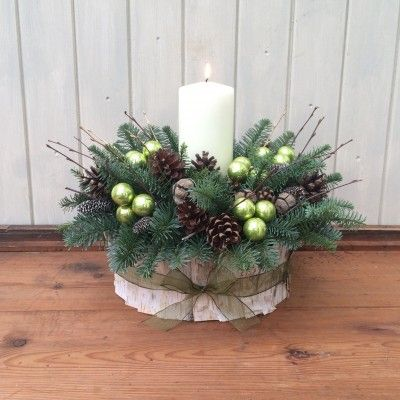 Highland Pine Christmas Table Centrepiece