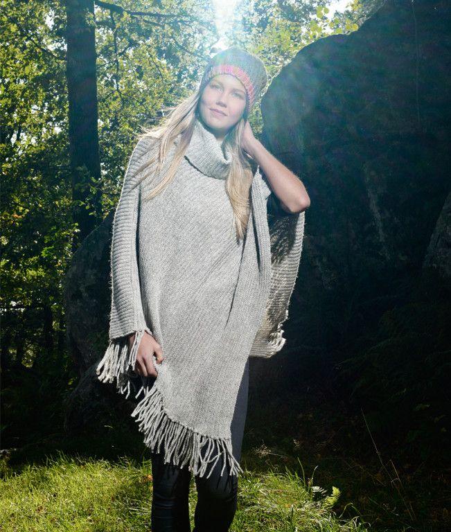 Morild Norway - Morild Alv poncho lys grå
