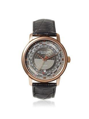 57% OFF Stuhrling Men's 383.334569 Prestige Traveler Black/Grey Stainless Steel Watch