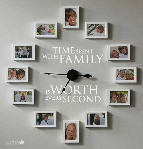 Family Wall Ideas. Gallery Wall Ideas and Inspiration for PIcture Frame Displays. Family picture frame ideas and ornament for displaying your home portraits.
