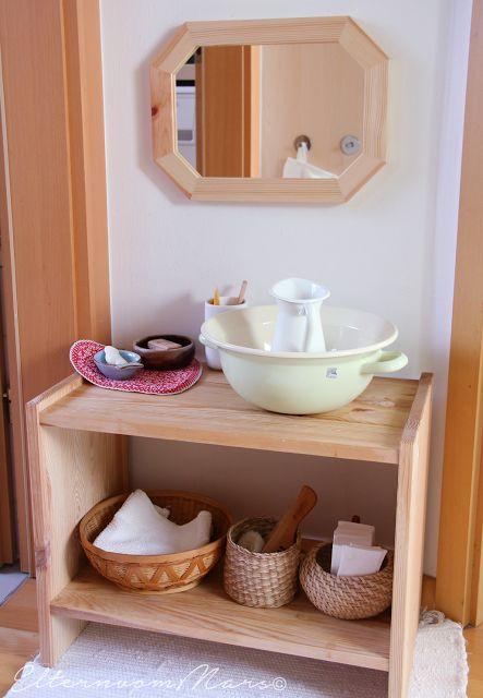 Der Montessori Waschtisch – einige Ideen und Gedanken dazu – Tjana