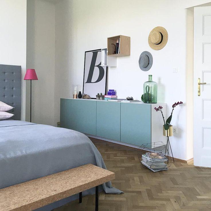 Ikea 'Bestå' cabinets & 'Sinnerlig' bench @inspirationholic