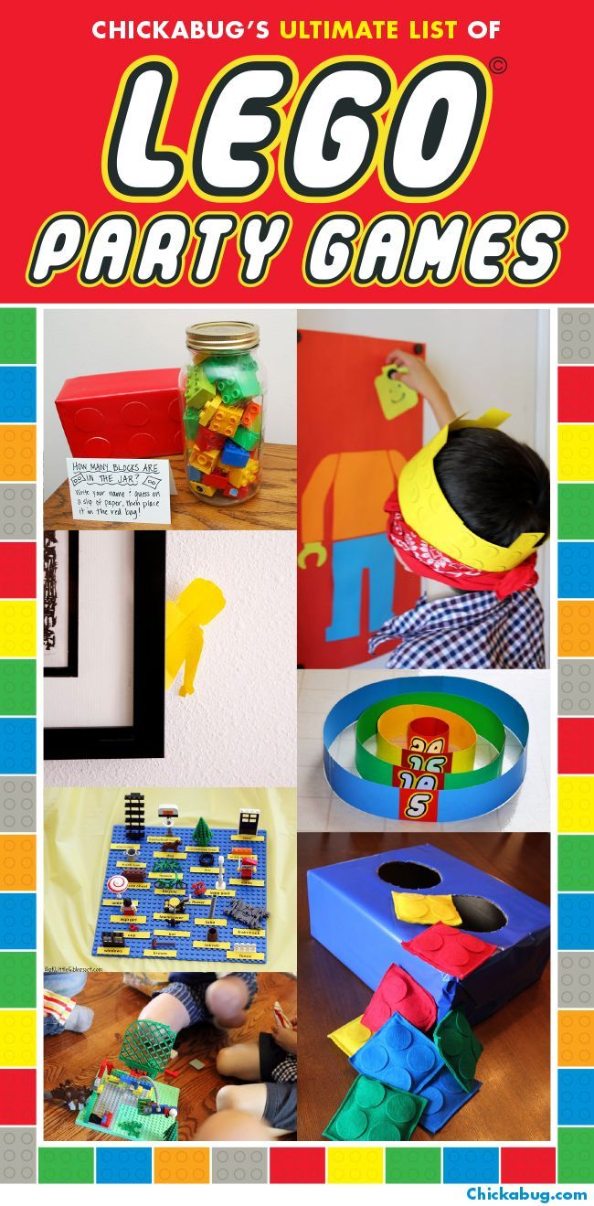 The ULTIMATE list of LEGO® party games! #legoparty