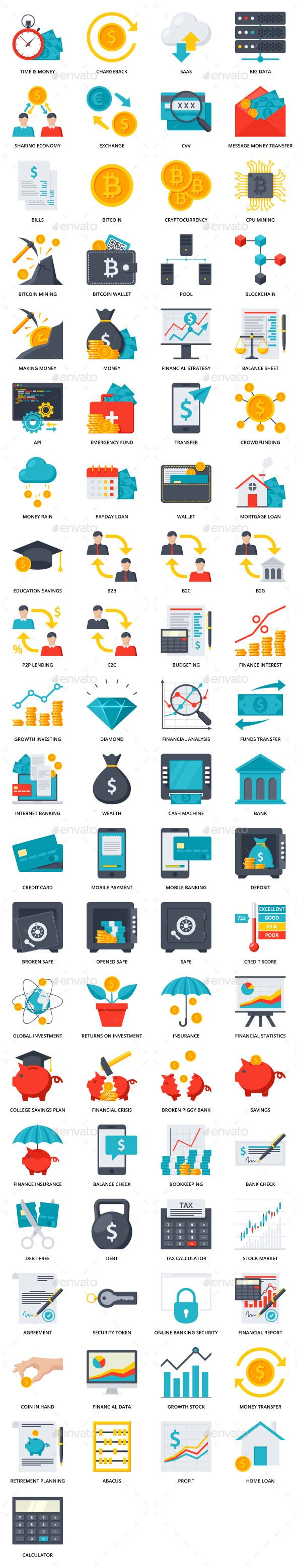 FinTech Icons – Technology Icons