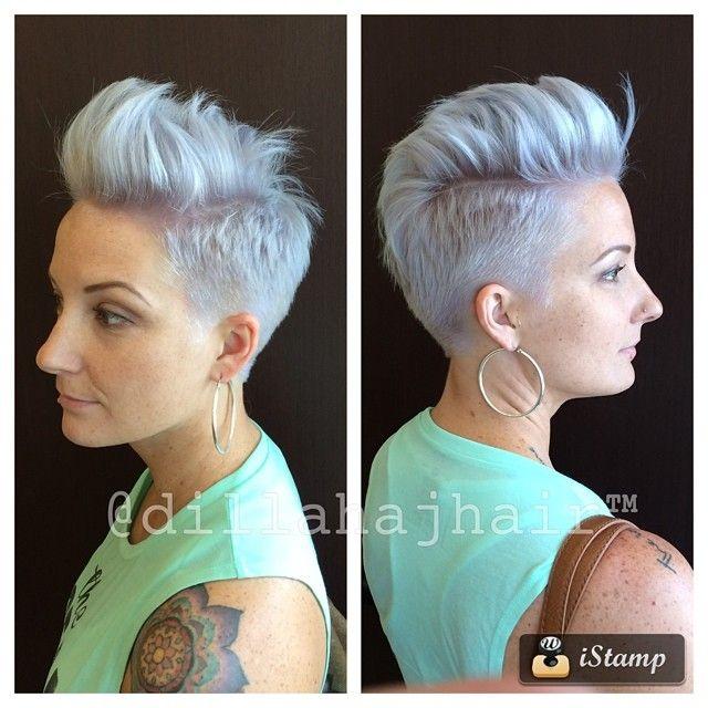 Een trend die toch wel stevig doorzet zijn de korte kapsels met extreem lichte kleuren. We zien variaties op blonde kleuren maar ook veel zilver, grijs en platinum. Laat je inspireren door deze 13 voorbeelden..
