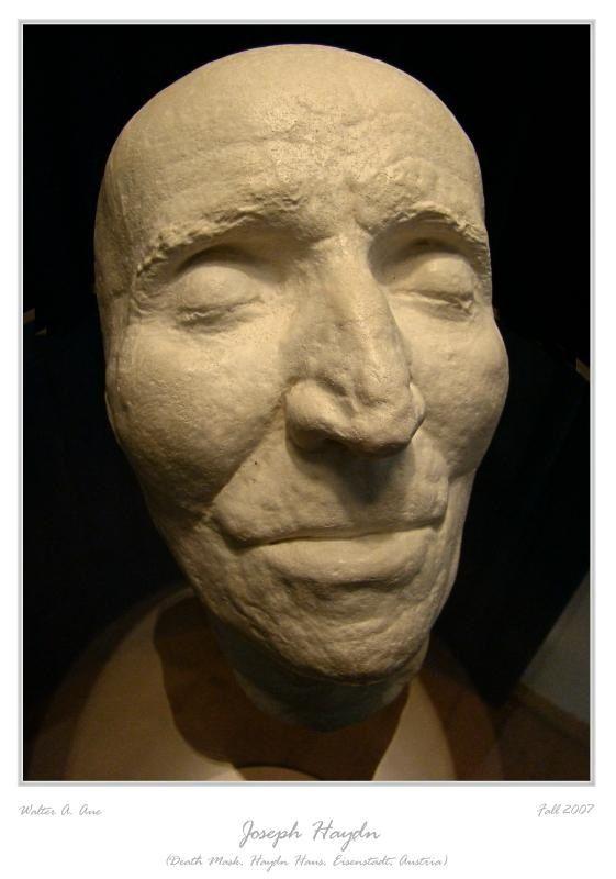 Death mask - Franz Joseph Hayden.  Indpiration for 'wedding guest' (Tristin) makeup